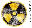 Vector nuclear sign representing the danger of radiation - stock photo
