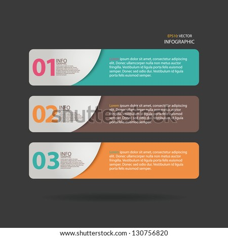 Vector Number Options Banner & Card. Can be used for website, info-graphics, number banner - stock vector