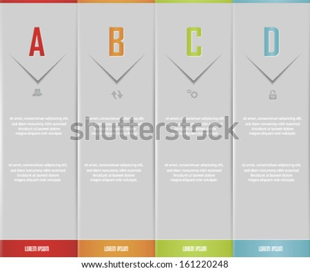 Vector  Number Options Banner & Card . Vector eps10. - stock vector