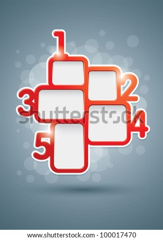 Vector numbered design template for business flyer, posters or web design works. - stock vector