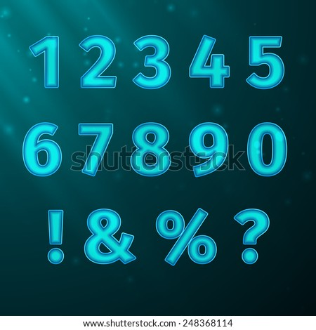 Vector numerals Typeface Font, excellent vector illustration, EPS 10 - stock vector