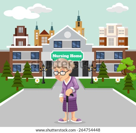 Nursing home building stock images royalty free images for How to build a retirement home