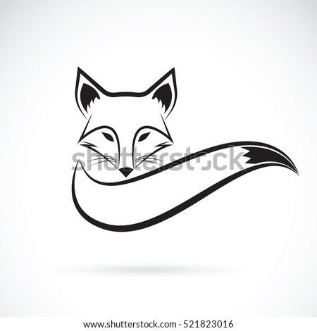 Aninimal Book: Vector Fox Design On White Background Stock Vector ...