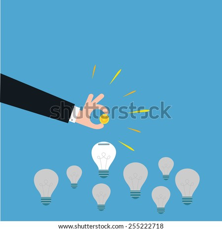 vector of a smart investment. concept of funding,innovative idea etc. - stock vector