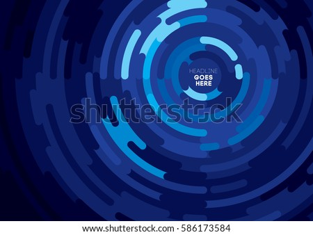 Vector of abstract circular pattern and background
