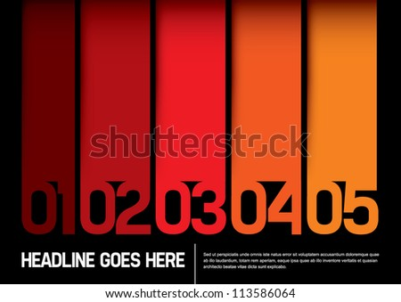 vector of abstract color chart and layout - stock vector