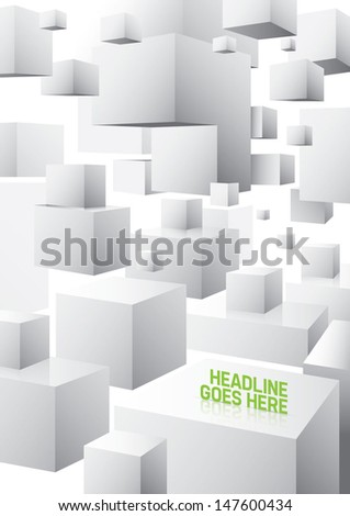 Vector of abstract cubical background - stock vector