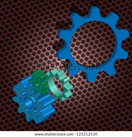 Vector of abstract gear - stock vector