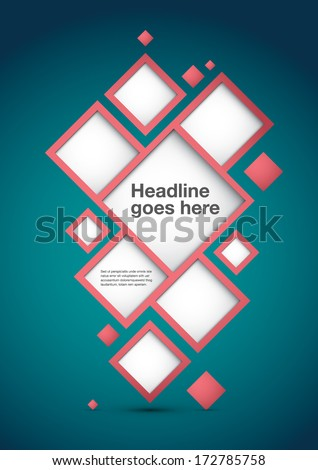 Vector of abstract info graphics element - stock vector