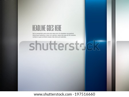 vector of abstract metallic background - stock vector