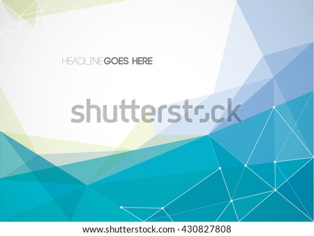 Vector of abstract polygon and background - stock vector