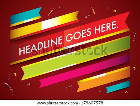 vector of abstract ribbon and background - stock vector