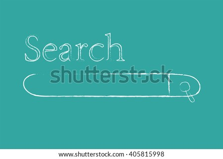 vector of abstract search bar against green - stock vector