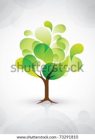 vector of abstract tree icon - stock vector