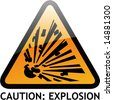 Vector of Alert Sign-20 explosion - stock vector