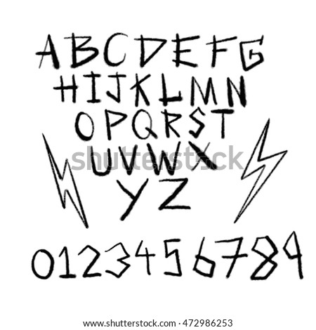Vector of Alphabet Hand draw hard rock styles