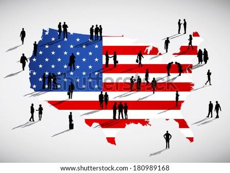 Vector of American Business - stock vector