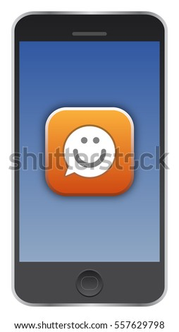 Vector of an icon on a smartphone