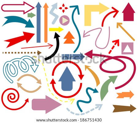 Vector of Arrow Set - stock vector