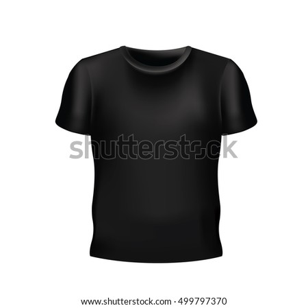 Vector of Black Blank t-shirt