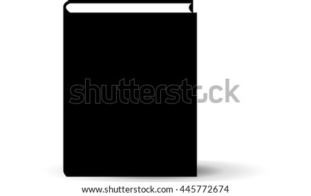 Vector of black cover book on white background