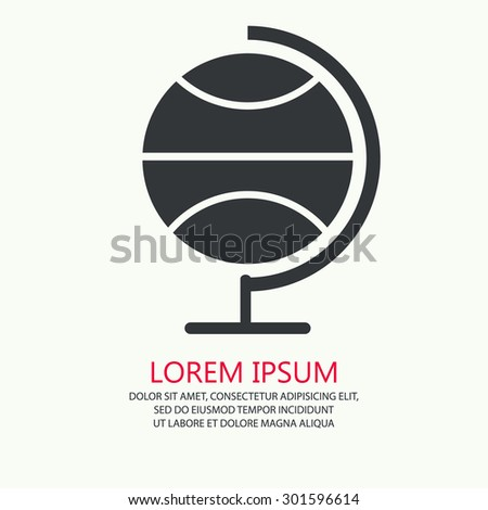 Vector of black globe symbol or icon - stock vector