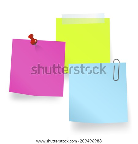 Vector of blank notes. - stock vector