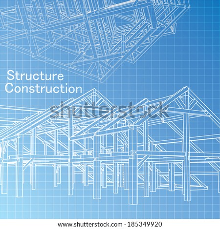 Vector of Blue print architect