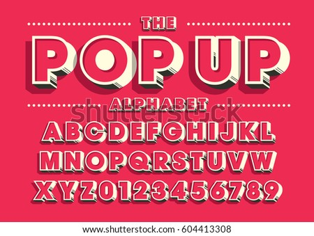 Vector of bold modern font and alphabet