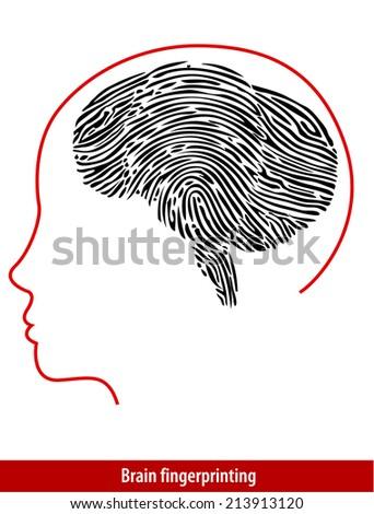 Vector of  Brain Fingerprint  - stock vector
