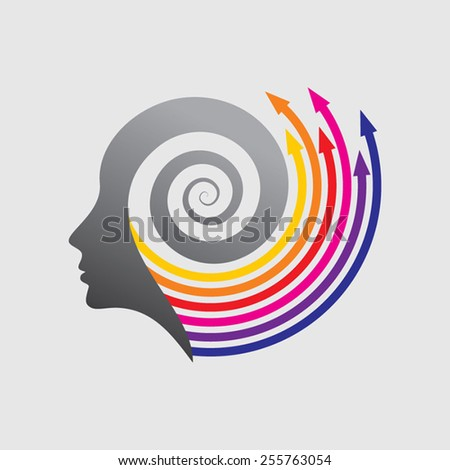 vector of business mind - stock vector