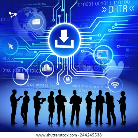 Vector of Business People Discussing about Network Issues - stock vector