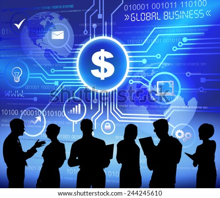 Vector of Business People Discussing Financial Issues - stock vector