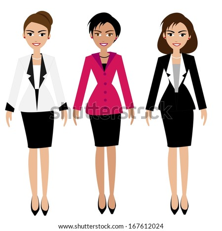 Vector of Business woman  - stock vector