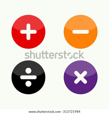 Vector of button puzzle symbol or icon - stock vector