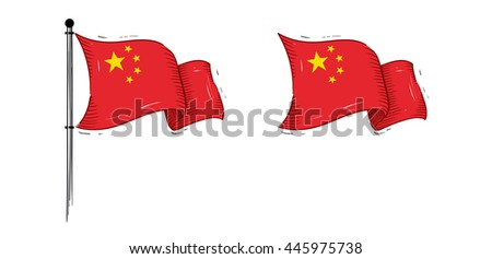Vector of China Flag Fly