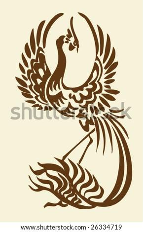 Vector of Chinese phoenix - stock vector