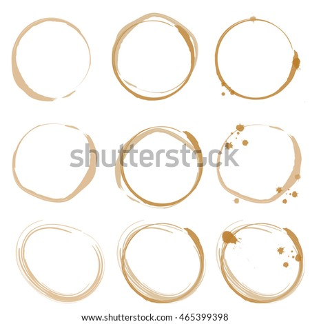 Vector of Coffee Stain Isolated On White Background
