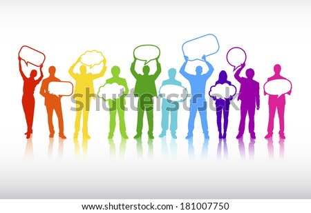 Vector of Colorful Business Communications - stock vector