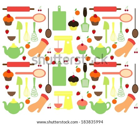 Vector of Cupcake Tools - stock vector