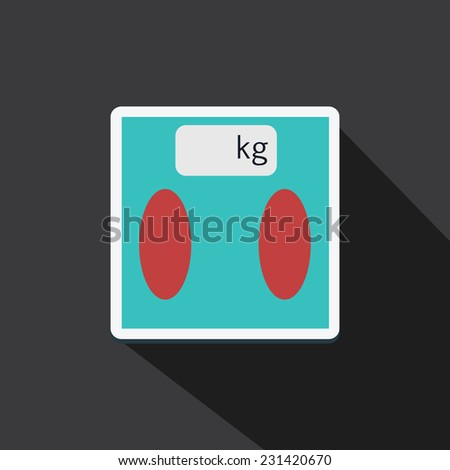 Vector of digital scale with long shadow - stock vector