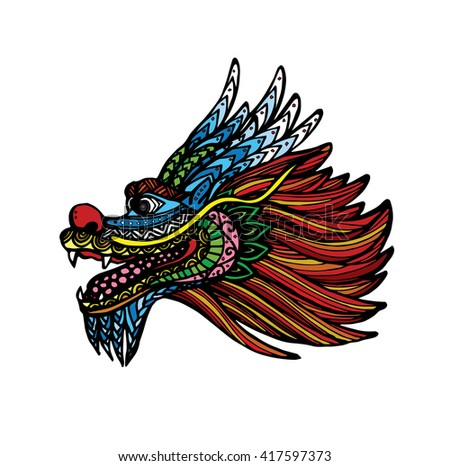 Vector Of Dragon Head For Boat Festival
