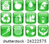 Vector of environmental icons set - stock photo