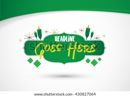 Vector of festive and celebration elements - stock vector