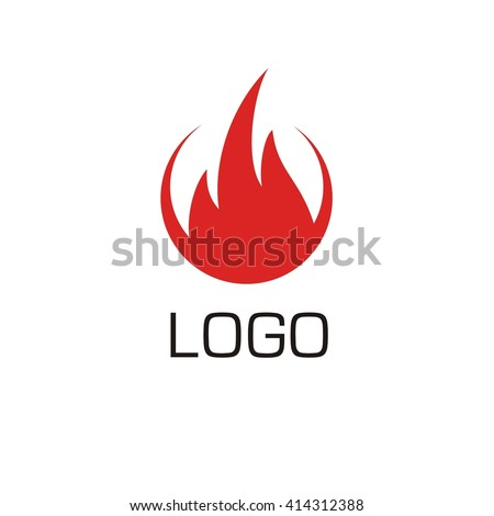 Vector of Fire icon. Fire logo. Business icon for the company. Logo for Oil / Gas. Other companies. Abstract symbol of fire. Vector illustration. - stock vector