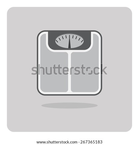 Vector of flat icon, bathroom scales on isolated background