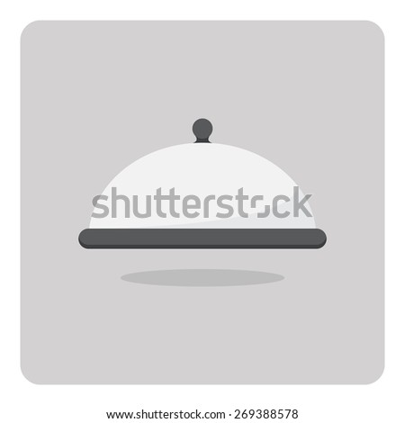 Vector of flat icon, food cover on isolated background