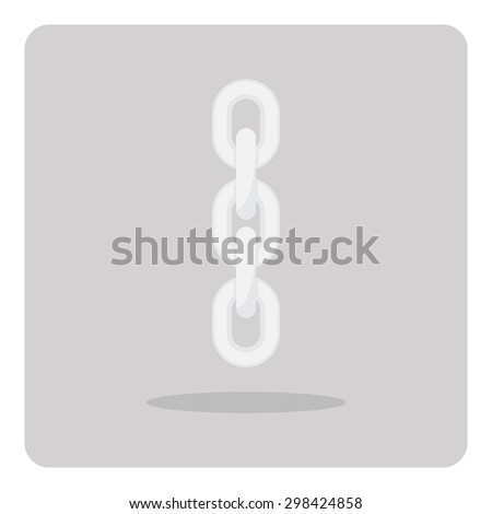 Vector of flat icon, metal chain on isolated background - stock vector
