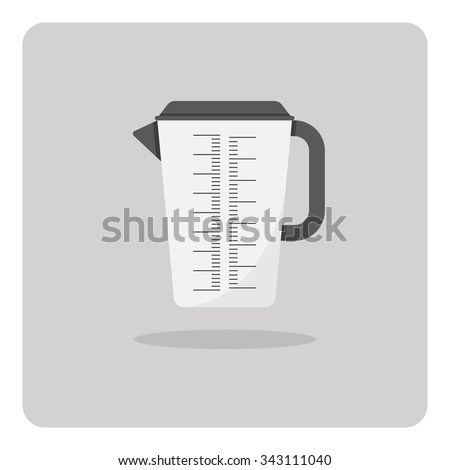 Vector of flat icon, Plastic jug on isolated background - stock vector