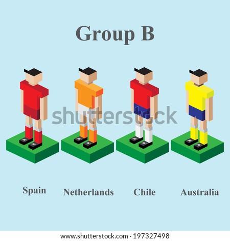 vector of football player world tournament - stock vector